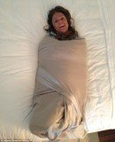 Jessica Simpson shared bizarre photo of mother Tina tightly swaddled in a blanket