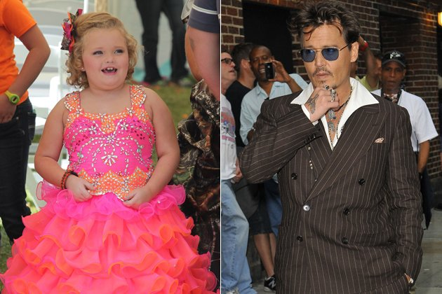 Johnny Depp has admitted that he is an avid watcher of none of than larger than life reality toddler Honey Boo Boo photo