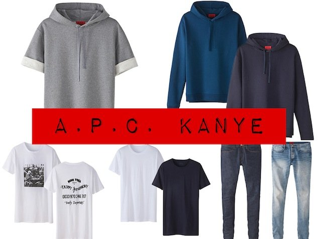 Kanye West's A.P.C. menswear collection sold out within a matter of hours after it went on sale on the brand's website