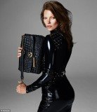 Kate Moss turns brunette for Versace Autumn/Winter 13 campaign