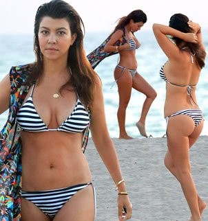 Kourtney Kardashian showed off her newly svelte body, after shedding over 40 lbs following the birth of her daughter Penelope