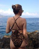 Kylie Minogue shared a swimsuit photo on her Instagram page