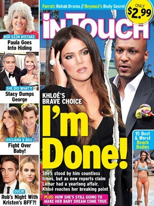 Latest tabloid reports claim that Khloe Kardashian and Lamar Odom are done with their marriage as the basketball player had a year long relationship with Jennifer Richardson photo