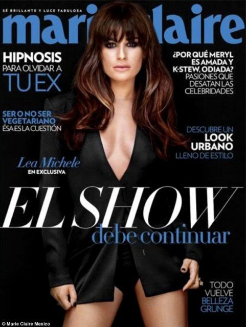 Lea Michele talks of her happiness with boyfriend Cory Monteith in a newly released interview with Marie Claire Mexico