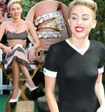 Miley Cyrus shows off her engagement ring on Good Morning America