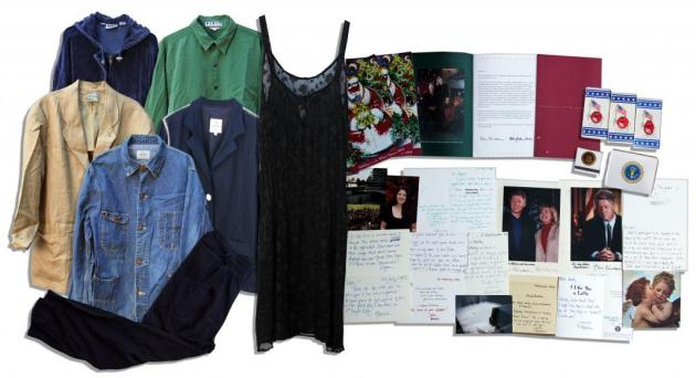 Monica Lewinsky clothing and notes collection fetched only $12,650 at an online auction