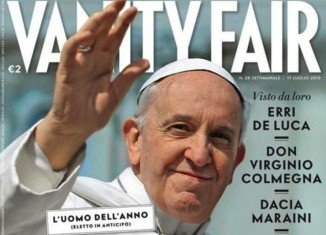 "Pope Francis has been named ""Man of the Year"" by the latest Italian edition of Vanity Fair"