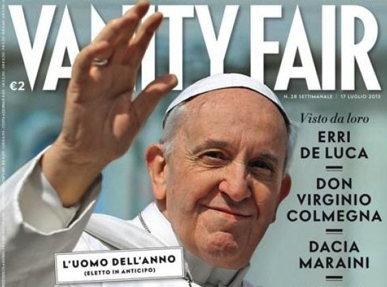 "Pope Francis has been named ""Man of the Year"" by the latest Italian edition of Vanity Fair photo"