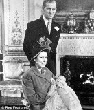 Queen Elizabeth II and Prince Philip with their newborn Prince Charles in 1948