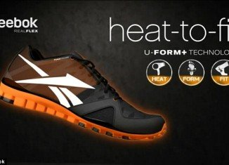 Reebok has brought out the new U-form Plus trainer designed to shrink-to-fit using heat from your hairdryer