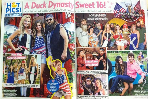 Scotty McCreery recently took time to perform at the Sweet 16 birthday party of Duck Dynasty star Sadie Robertson photo