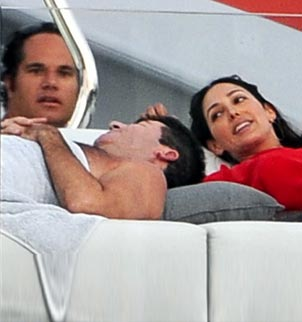 Simon Cowell and Lauren Silverman were pictured together, as they enjoyed a cozy Caribbean holiday in January 2012 alongside her husband Andrew Silverman