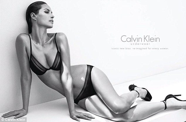 Supermodel Christy Turlington has made a triumphant return to Calvin Klein as the face of their new women's underwear range at the age of 44 photo