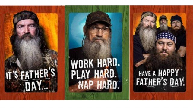 The Duck Dynasty guys teamed up with Hallmark to make a line of Father's Day greeting cards