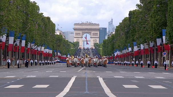 The July 14 celebrations marking the start of the French Revolution in 1789 traditionally include an annual military parade on the Champs Elysees in Paris photo