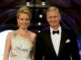The future King Philippe and the future Queen Mathilde of Belgium