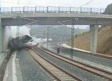 The moment Spanish passenger train hurtled off the tracks and smashed into a wall, killing at least 80 people
