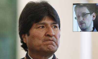 The plane of Bolivia's President Evo Morales plane had to be diverted to Austria amid suspicion that Edward Snowden was on board photo