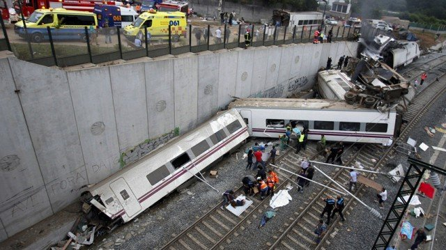 The train driver in last week's crash in Spain was talking on the phone when it derailed