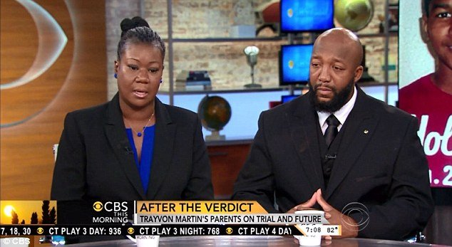 Trayvon Martins parents Sybrina Fulton and Tracy Martin said they are shocked and disgusted the jury in George Zimmermans trial found him not guilty of murdering their son photo