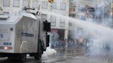 Turkish riot police have fired tear gas and water cannon at protesters trying to enter Istanbul's Gezi Park