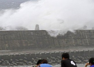 Typhoon Soulik has hit Taiwan, bringing strong winds and torrential rain to the island
