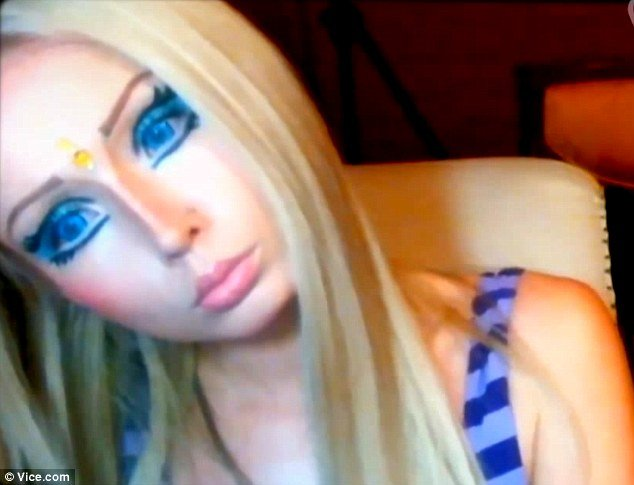 Valeria Lukyanova has sparked international controversy by turning herself into a human doll using plastic surgery and thick layers of dramatic make-u