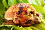 Whole barbecued chicken for 4th of July celebration