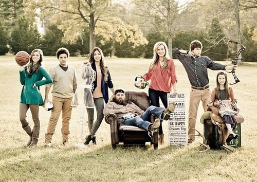 Willie and Korie Robertson with their five kids Sadie Will Rebecca John Luke and Bella photo