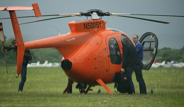 With five days to go until Kate Middleton is due to give birth to their first child, Prince William has borrowed a helicopter once used to circumnavigate the globe in record time
