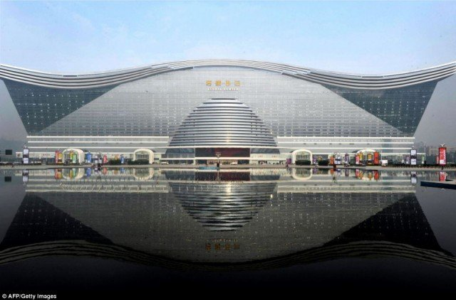 World's largest building, the New Century Global Center in Chengdu, Sichuan province, is capable of fitting 20 Sydney Opera Houses or three Pentagons inside