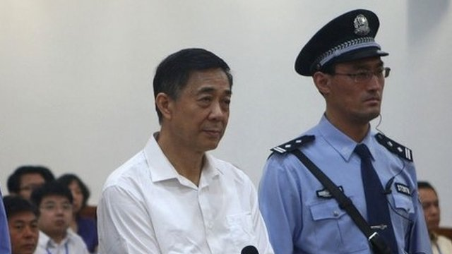 Bo Xilai has gone on trial on charges of bribery corruption and abuse of power photo