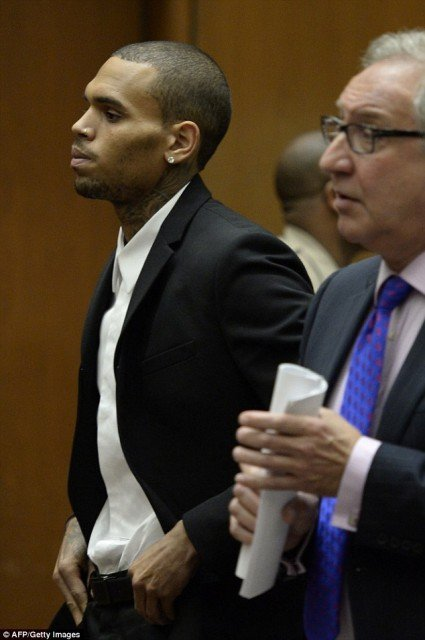 Chris Brown has been sentenced to 1000 more hours of community service 425x640 photo