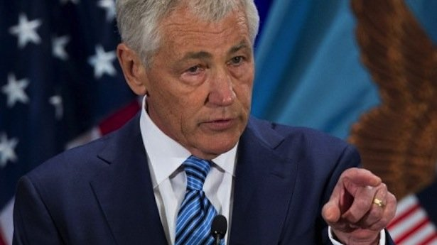 Chuck Hagel has suggested that the Pentagon is moving its forces closer to Syria as the US weighs its options in the conflict there