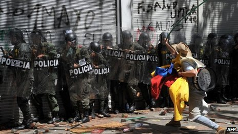Colombia has deployed troops in Bogota following violent protests in support of small scale farmers strike photo