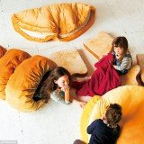 Croissant duvet, toast pillow and doughnut bun by Felissimo