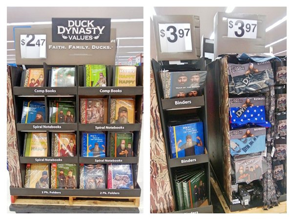 Duck Dynasty school supplies are now at Walmart
