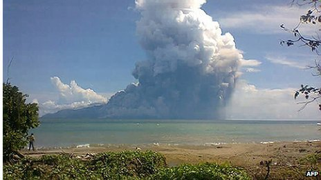 Five people have been killed after Rokatenda volcano erupted on tiny island of Palue in Indonesia