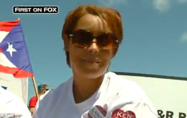 Gina DeJesus has made her first public appearance since her dramatic escape at the annual Puerto Rican Parade and Latino Fest photo