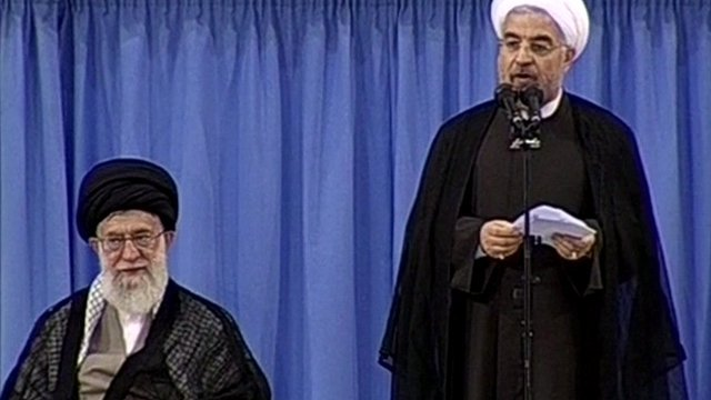 Hassan Rouhani has officially replaced Mahmoud Ahmadinejad as president of Iran