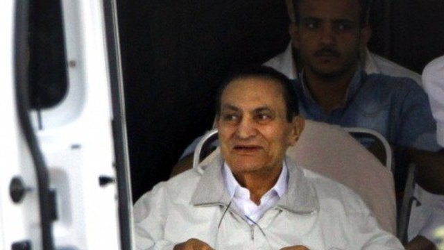Hosni Mubarak has appeared in court three days after being released from prison and placed under house arrest photo