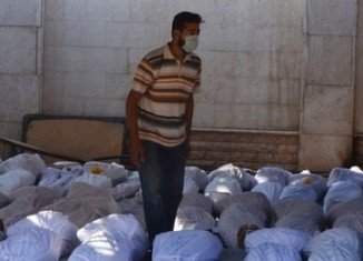 Hundreds of Syrians have been killed early this morning on the outskirts of Damascus following chemical weapons attacks