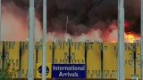 International flights have begun landing at Nairobi's international airport a day after fire gutted the arrivals hall
