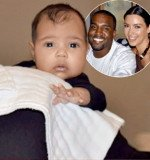 It appears baby North possesses both her mother Kim Kardashian and father Kanye West's looks