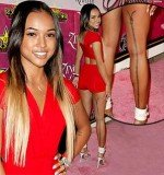 Karrueche Tran put her bit of ink on full display while attending Zing Vodka's Kandyland soiree in Beverly Hills