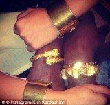 Kim Kardashian and Kanye West's matching bracelets