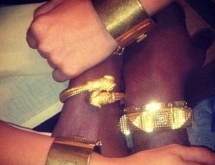 Kim Kardashian and Kanye West's matching bracelets