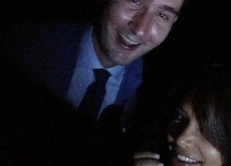 Kim Kardashian posted her long-awaited first selfie with Instagram co-creator Kevin Systrom