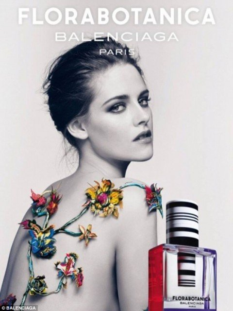 Kristen Stewart has been the face of Balenciaga fragrance since 2012  480x640 photo