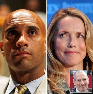 Laurene Powell Jobs is said to have bonded with former Washington DC mayor Adrian Fenty over a shared passion for school reform